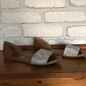 Steve Madden sparkle slide sandals